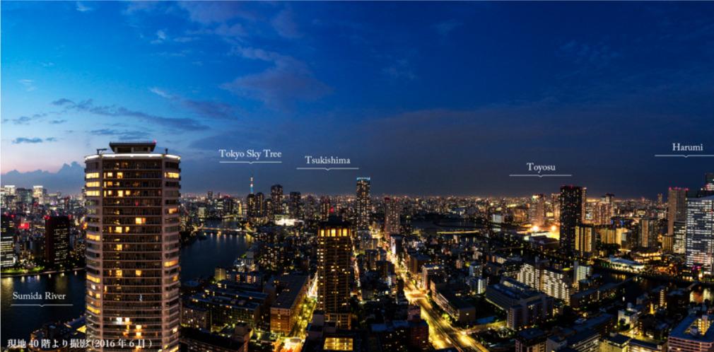 勝どきビュータワーからの眺望