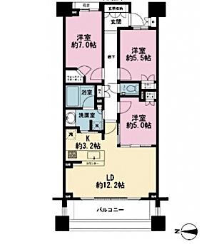 マジェスティハウス新宿御苑パークナードの間取り(3LDK)