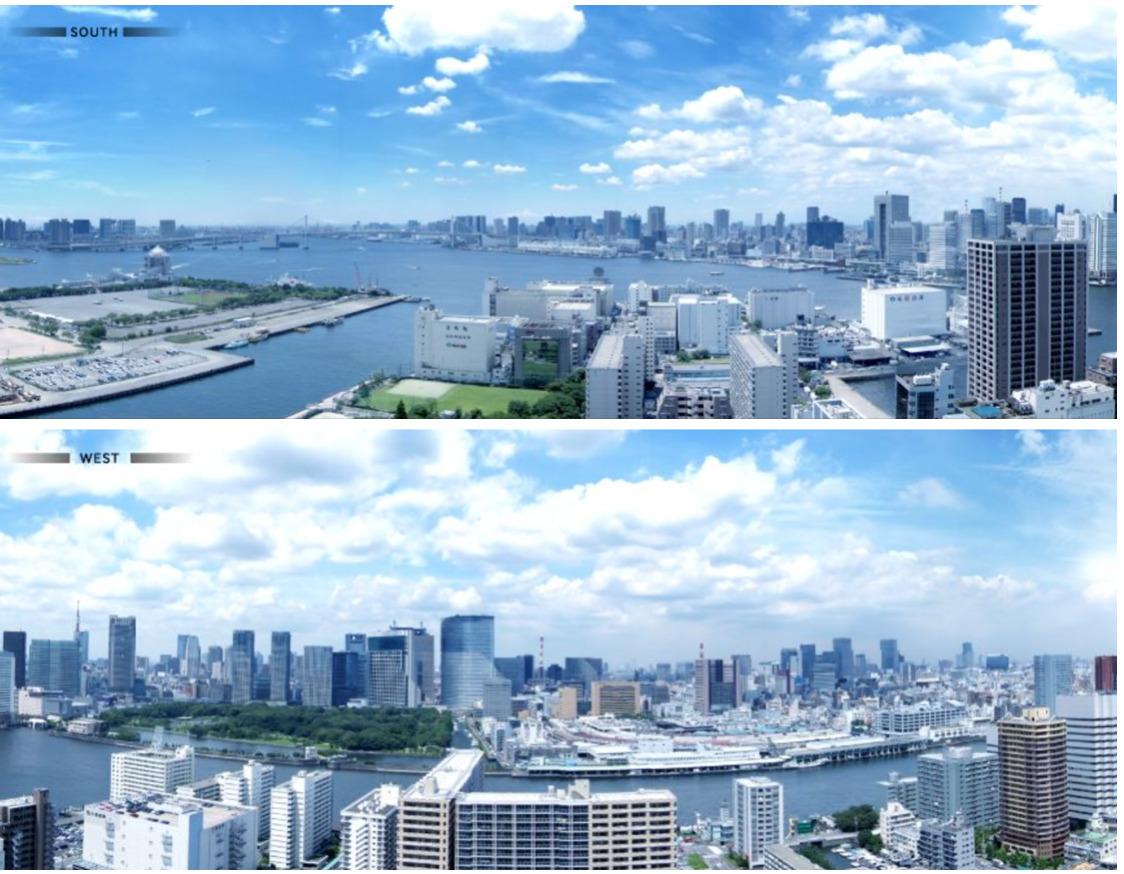 東京タワーズからの眺望