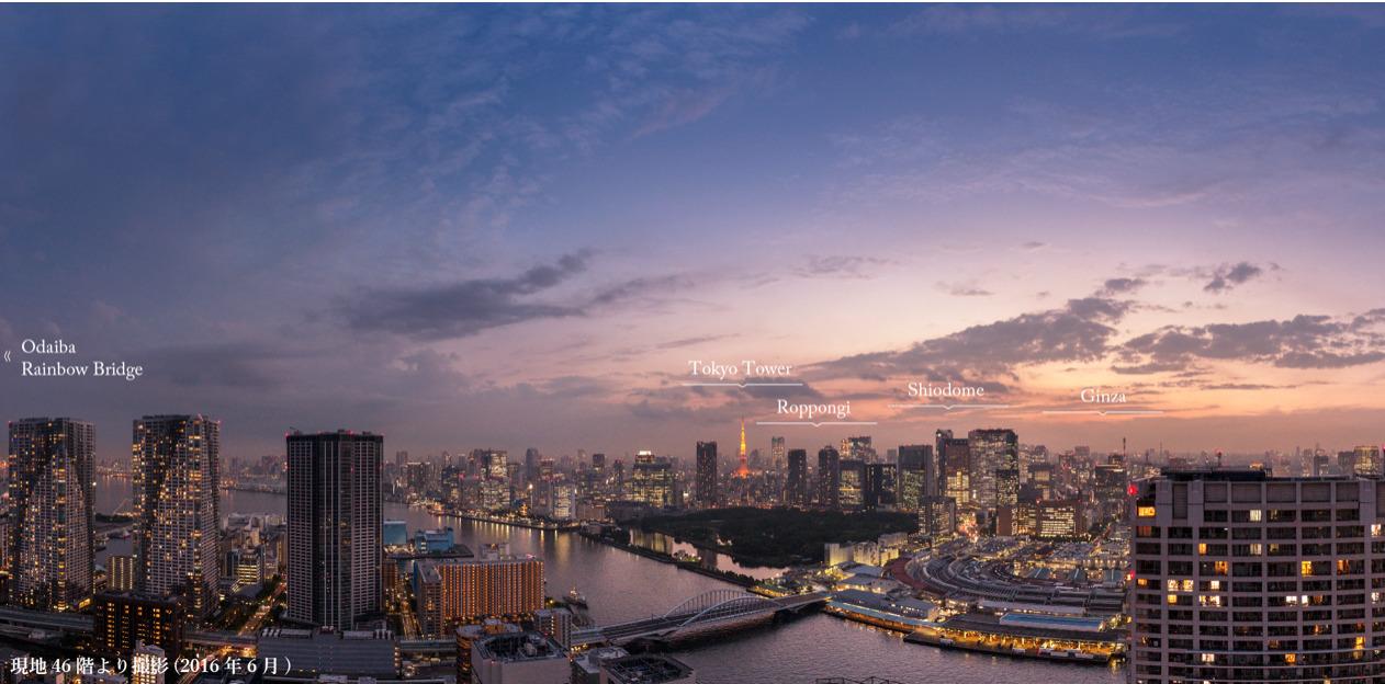 勝どきビュータワーからの眺望イメージ