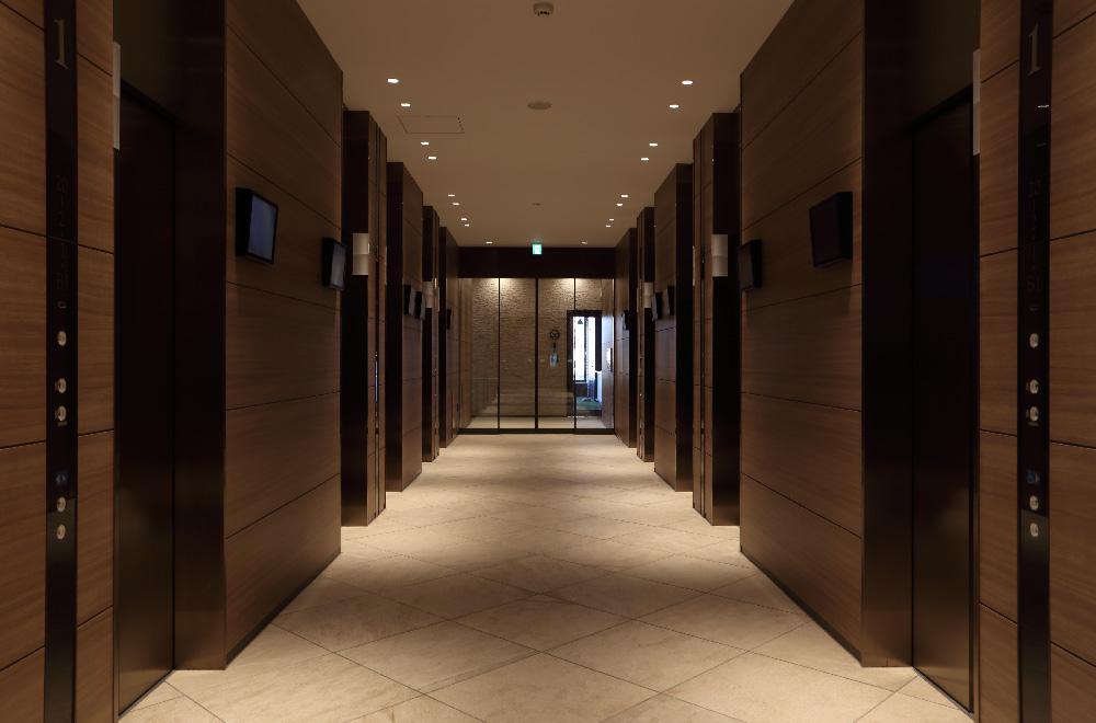 パークタワー晴海のエレベーターホール