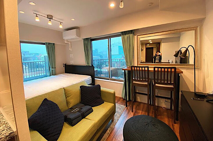リビオ四谷の家具や家電付きの部屋