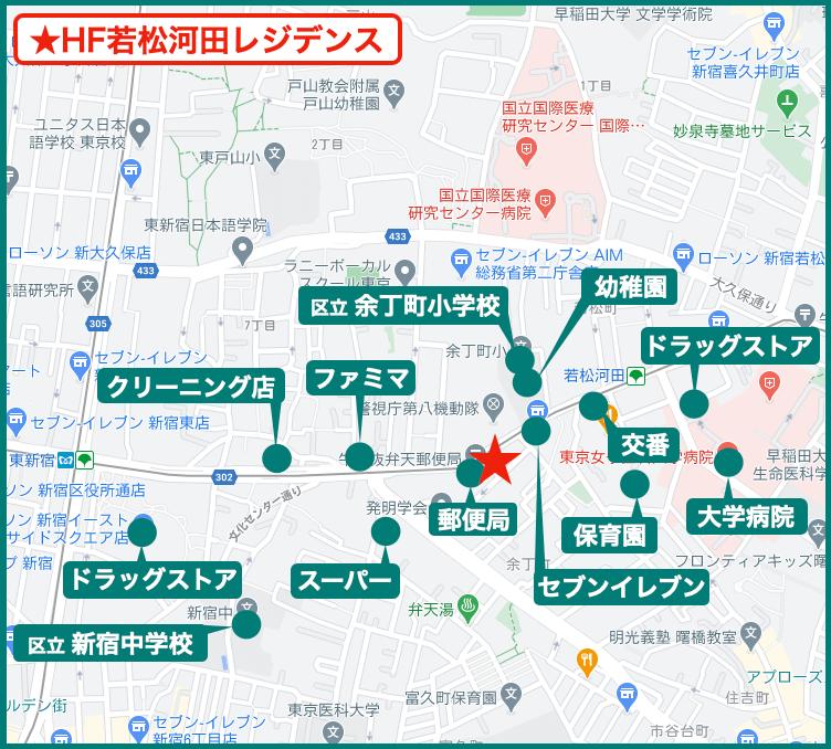 HF若松河田レジデンスの周辺施設