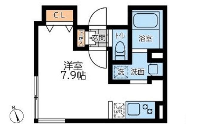 LEGALAND神楽坂北の間取り(ワンルーム)