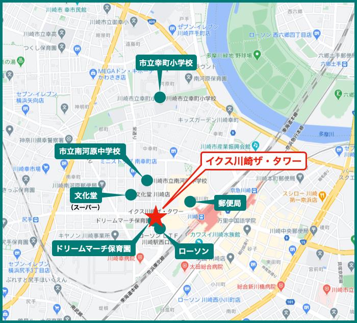イクス川崎ザ・タワーの地図