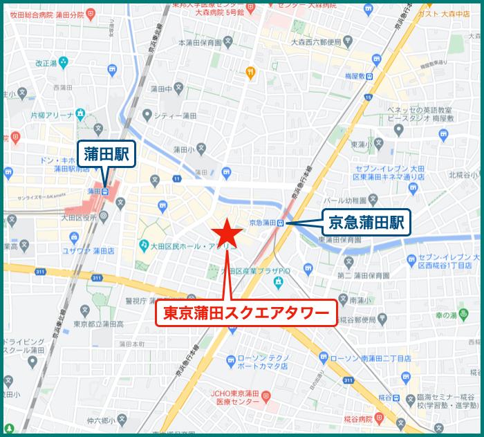 東京蒲田スクエアタワーの地図