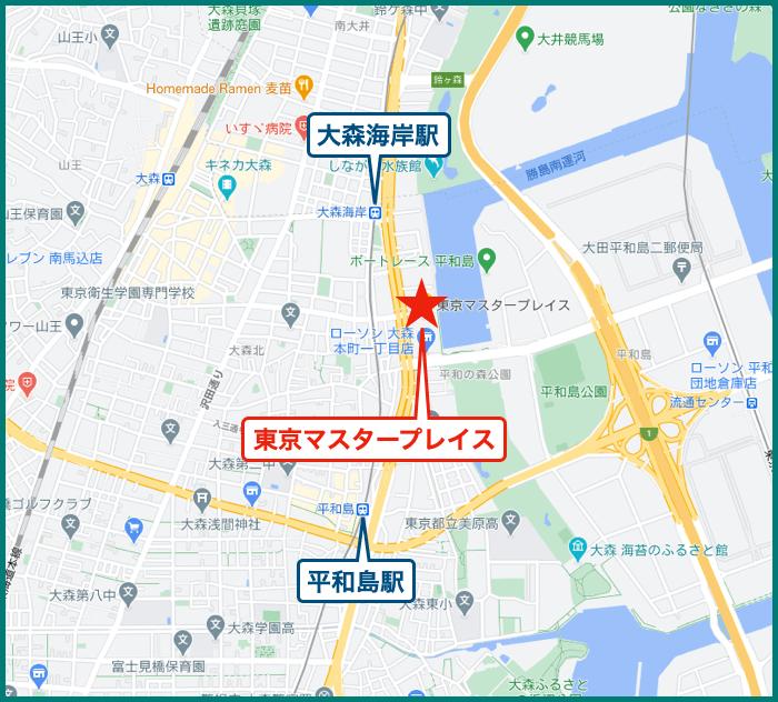 東京マスタープレイスの地図