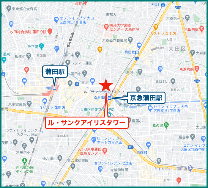 ル・サンクアイリスタワーの地図