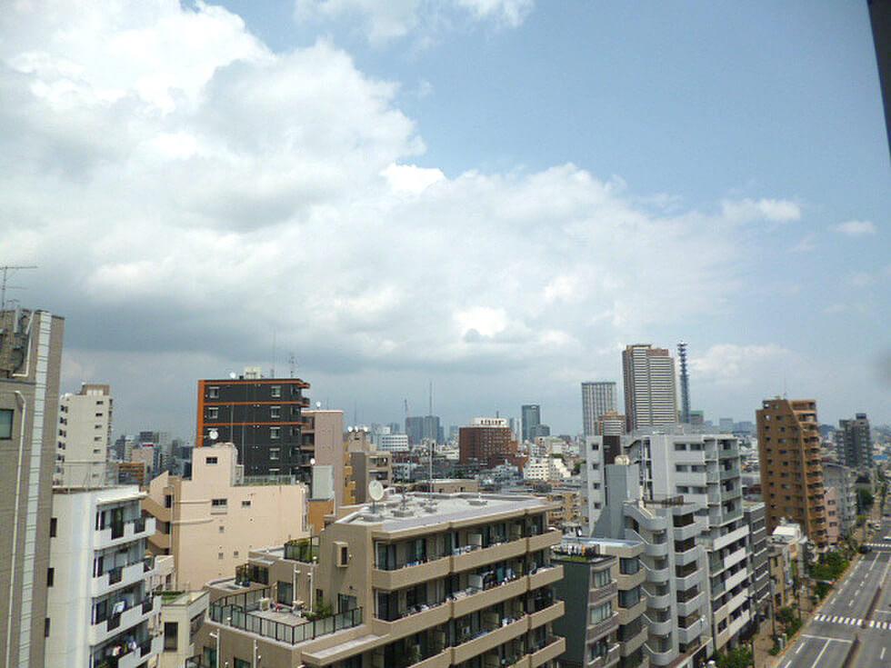 スカイコートヒルズ新宿の眺望(1K)