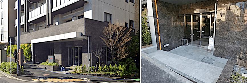 D-room早稲田のエントランス