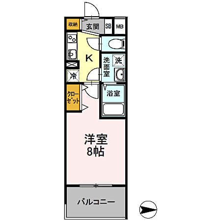 D-room早稲田の間取り