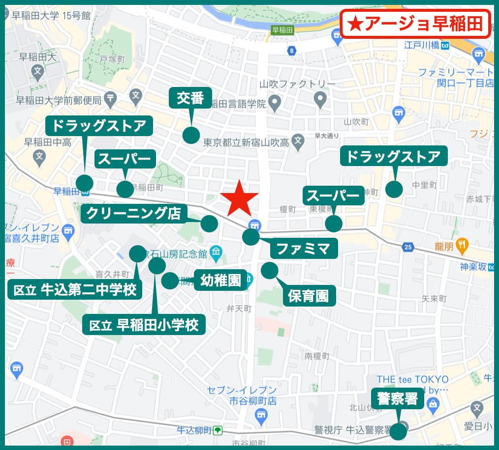 アージョ早稲田の周辺施設