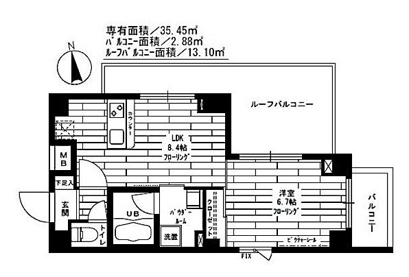 ステージグランデ神楽坂の室内(1LDK)