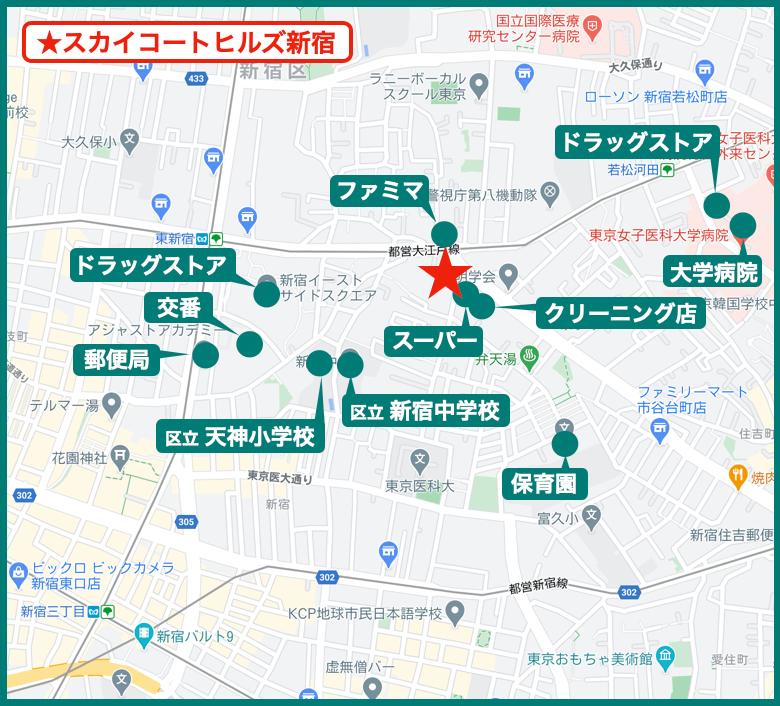 スカイコートヒルズ新宿の周辺施設
