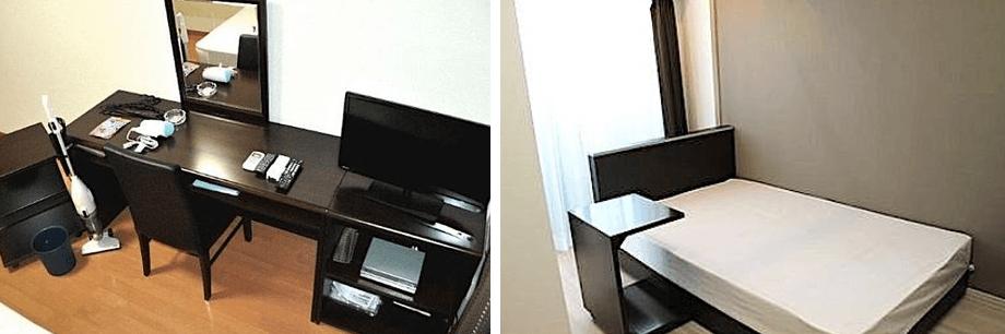 アクサス新宿戸山の家具家電付きの部屋