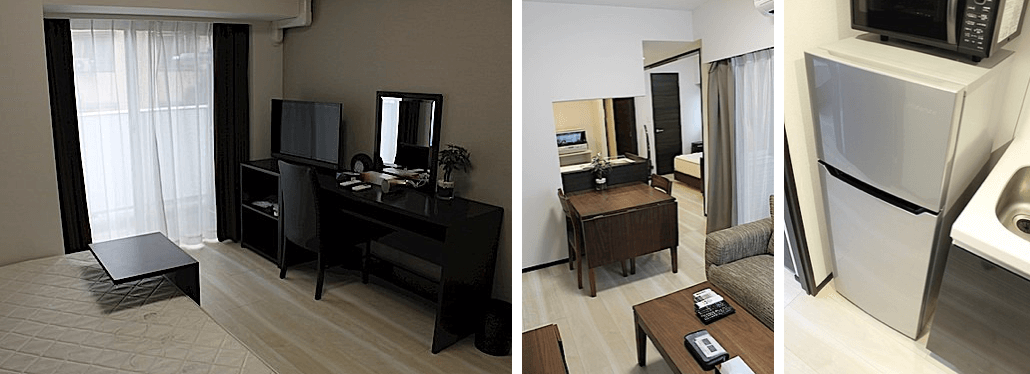 ジェノヴィア新宿早稲田グリーンヴェールの家具や家電付きの部屋