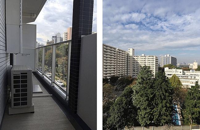 ディームス東新宿の眺望(1LDK)