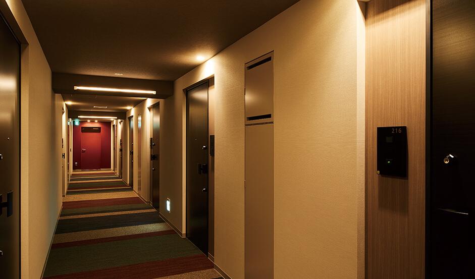ザ・パークハビオ新宿の内廊下