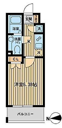 KDXレジデンス東新宿の間取り(1K)