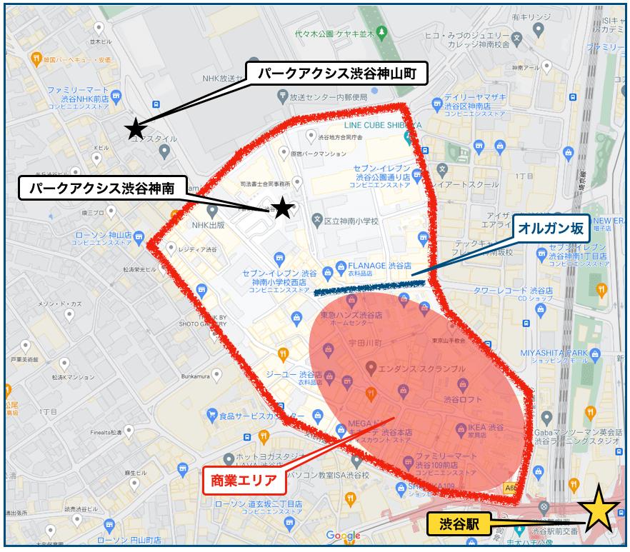 渋谷_パークアクシス_位置