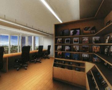 キャナルファーストタワーのライブラリー