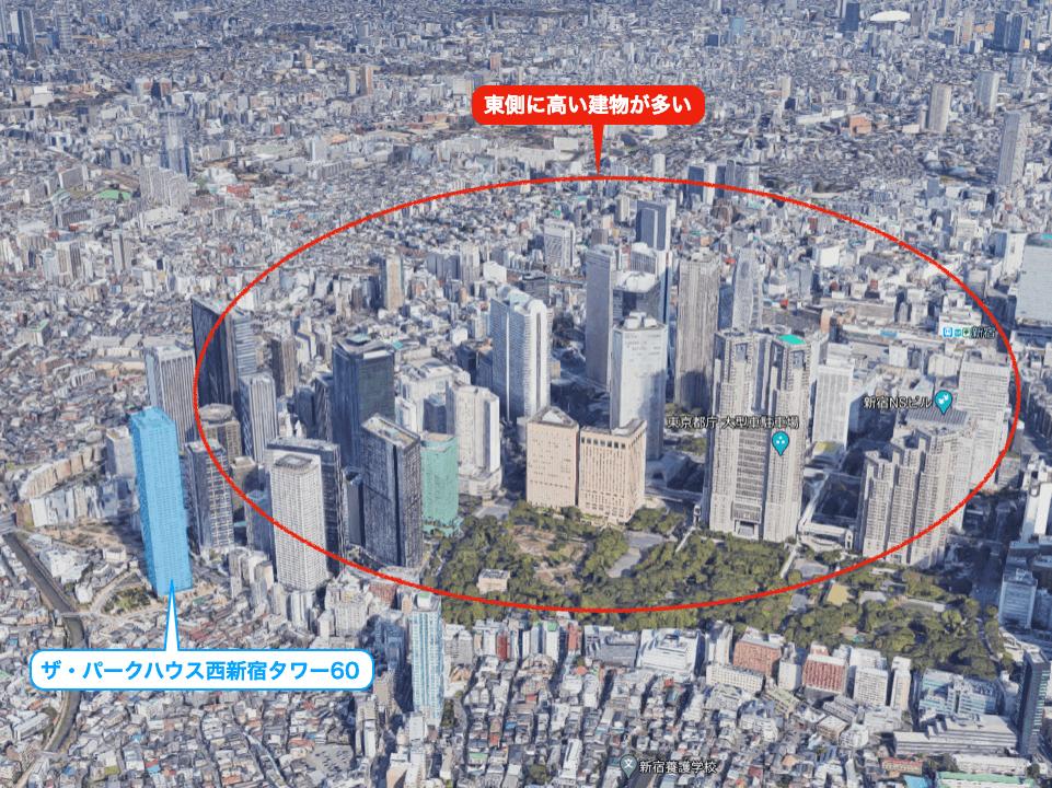 ザ・パークハウス西新宿タワー60の眺望