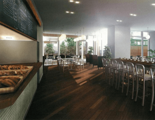 キャナルファーストタワーのカフェラウンジ