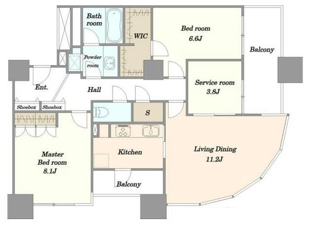 ザ・タワー・グランディア2LDKの室内