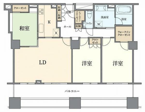 ザ・タワー・グランディア3LDKの室内