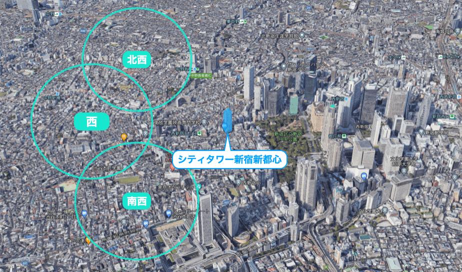 シティタワー新宿新都心の眺望