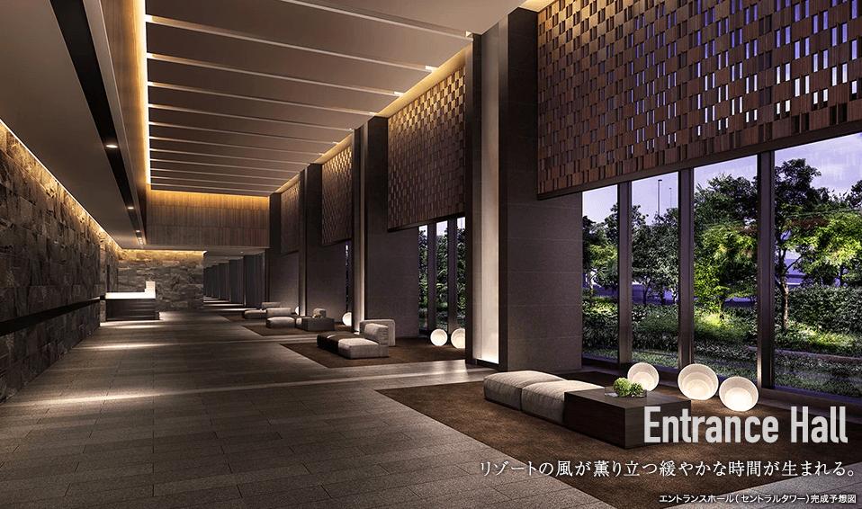 シティタワーズ東京ベイのエントランスホール