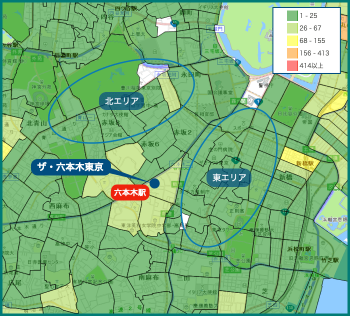 ザ・六本木東京の犯罪マップ
