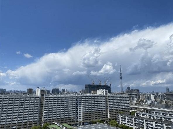 イーストパークス大島セントラルスクエアの眺望