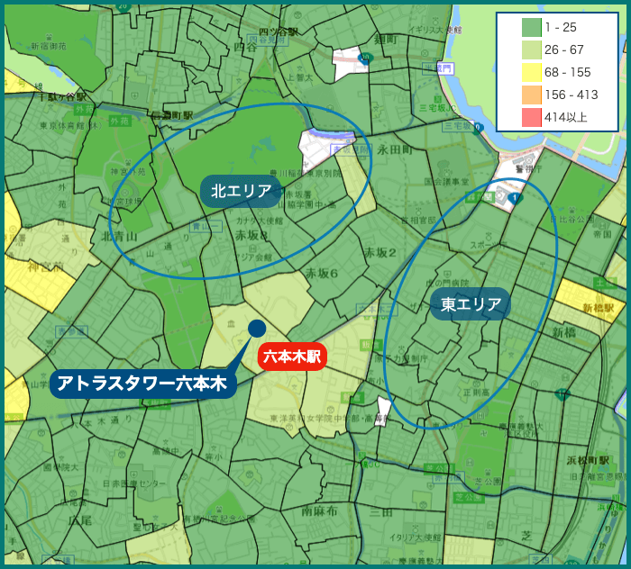 アトラスタワー六本木の犯罪マップ