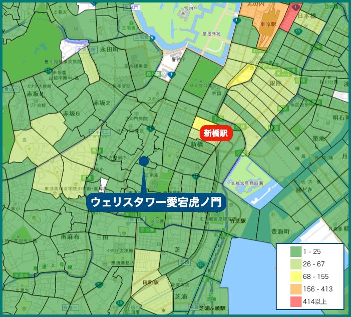 ウェリスタワー愛宕虎ノ門の犯罪マップ