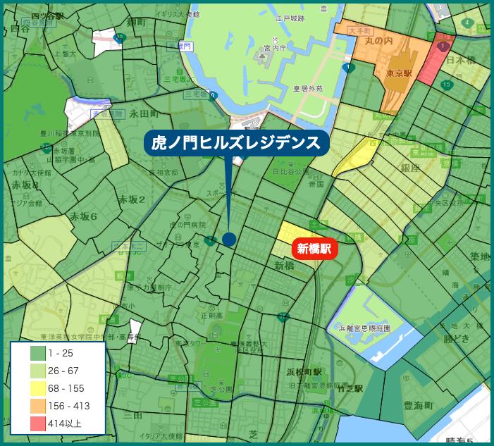 虎ノ門ヒルズレジデンスの犯罪マップ