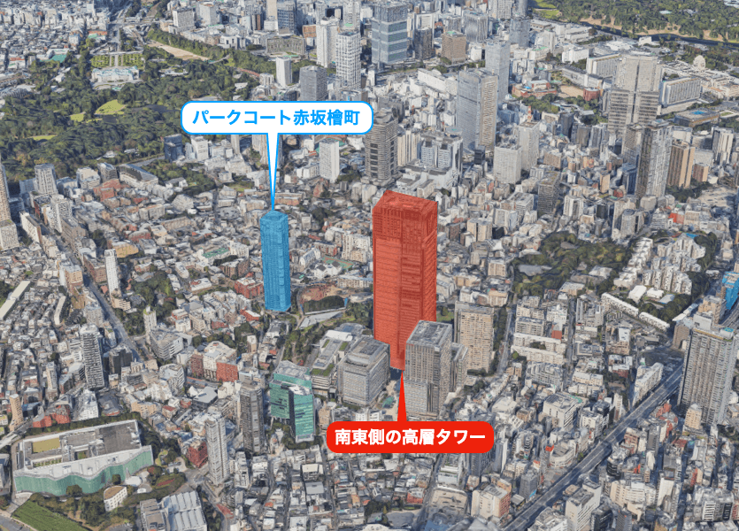 パークコート赤坂檜町ザ タワーの眺望
