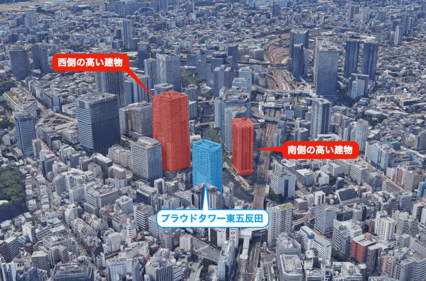 プラウドタワー東五反田の眺望