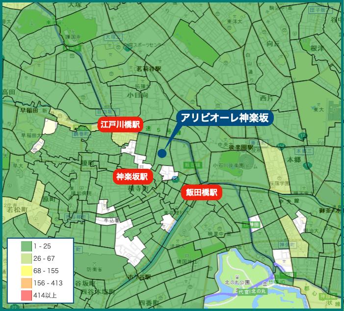 アリビオーレ神楽坂の犯罪マップ