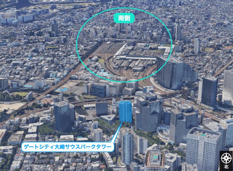 ゲートシティ大崎サウスパークタワーの眺望