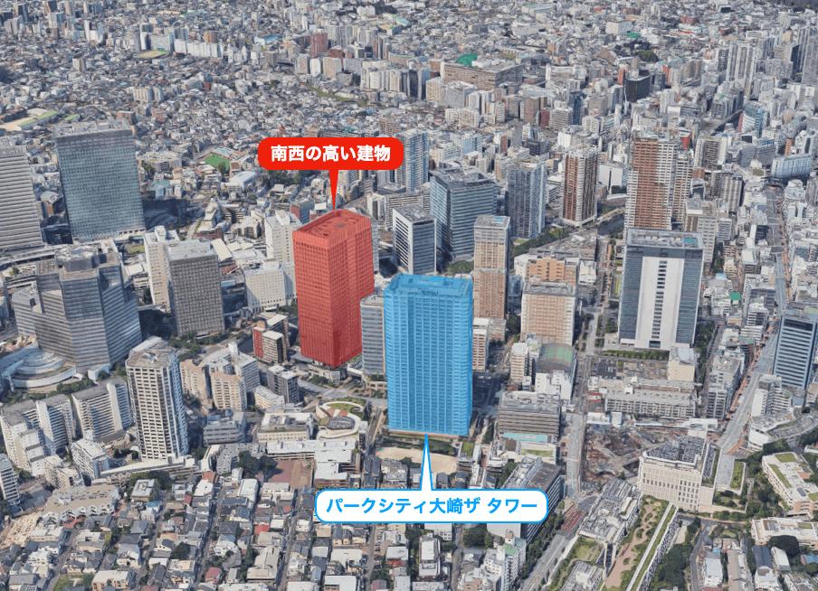 パークシティ大崎ザ タワーの眺望
