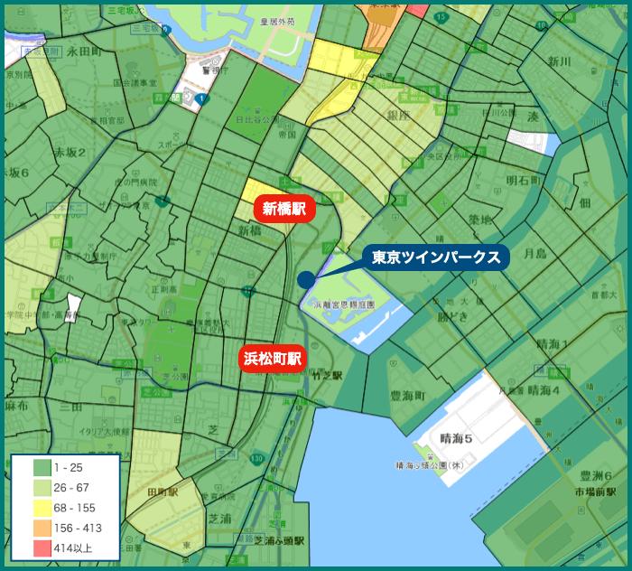 東京ツインパークスの犯罪マップ
