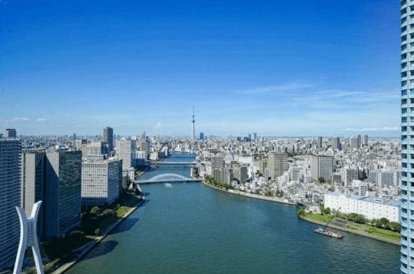リバーシティ21スカイライトタワーの眺望