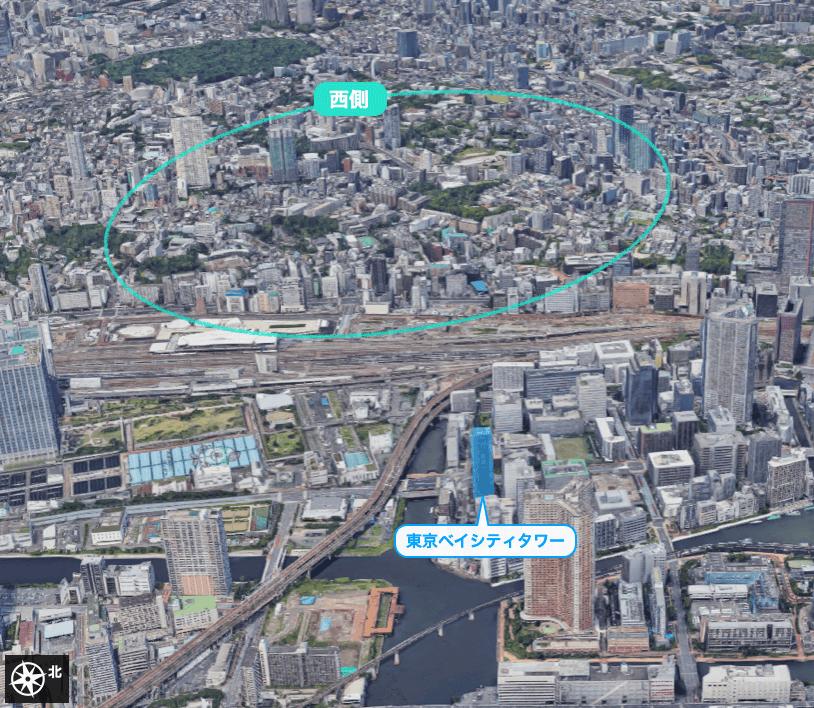 東京ベイシティタワーの眺望