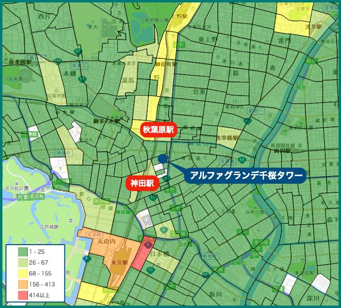 アルファグランデ千桜タワーの犯罪マップ