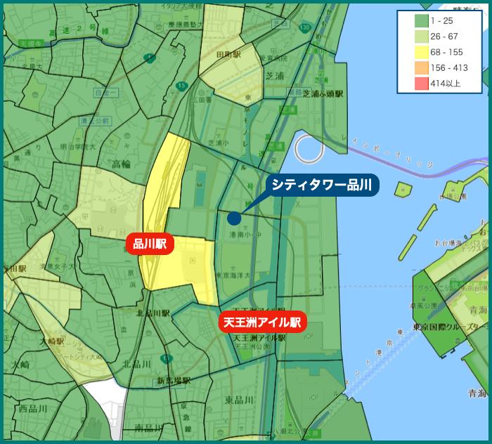 シティタワー品川の犯罪マップ