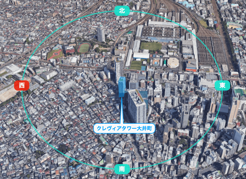 クレヴィアタワー大井町ザ・レジデンスの眺望
