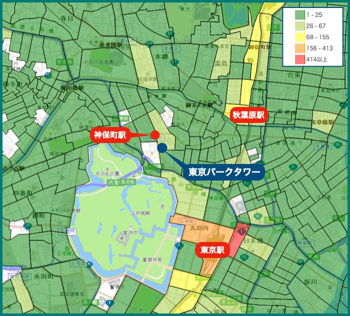 東京パークタワーの犯罪マップ