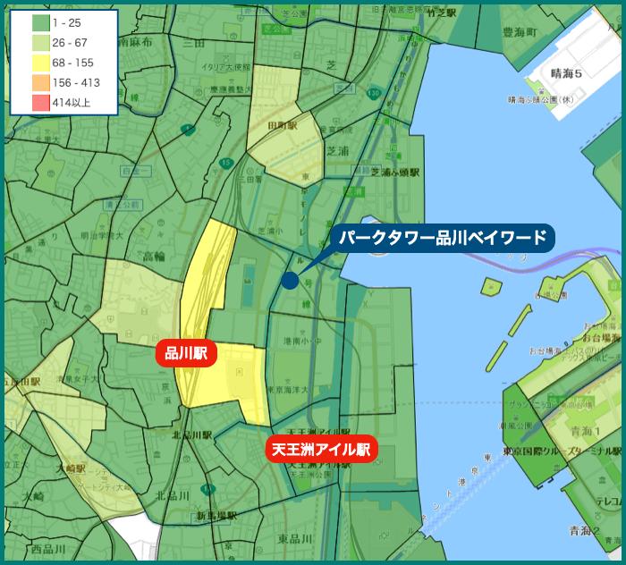 パークタワー品川ベイワードの犯罪マップ